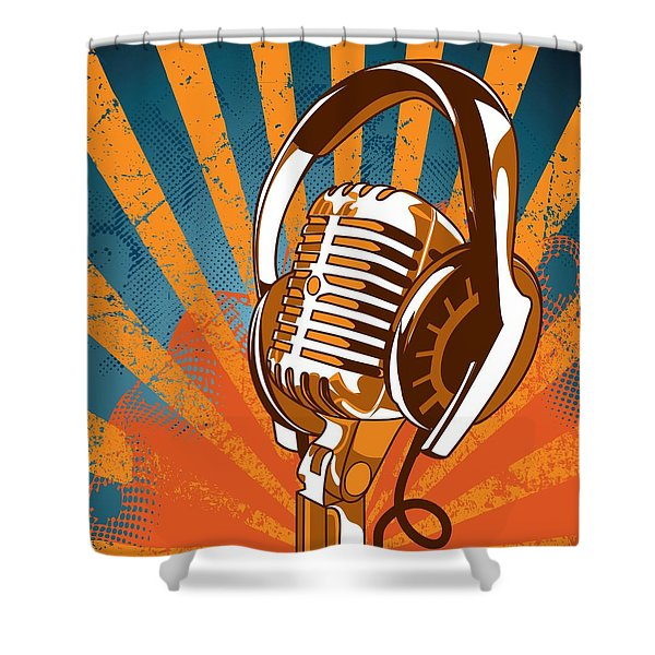 Shower Curtain featuring the digital art New Age D.j. by Stanley Mathis