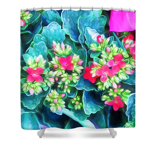 New Blooms Shower Curtain