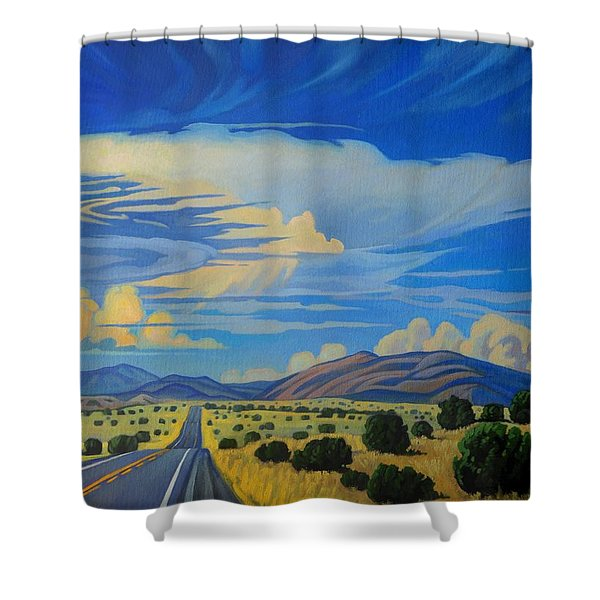 New Mexico Cloud Patterns Shower Curtain