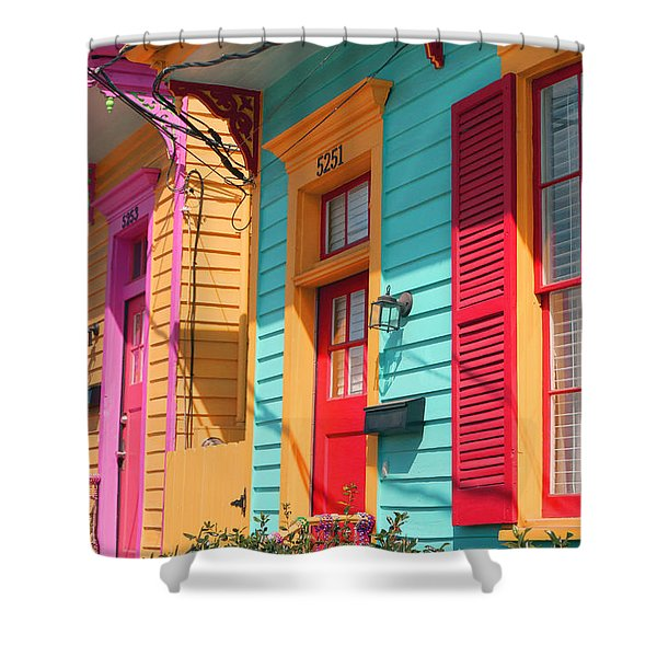 New Orleans Color Shower Curtain