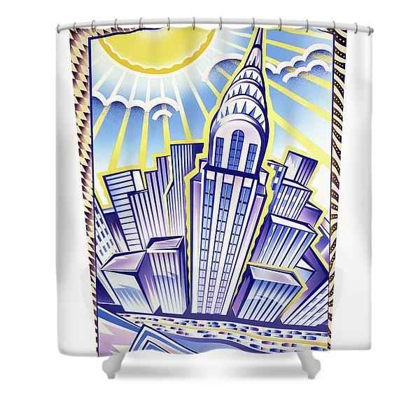 New York Chrysler Building Shower Curtain