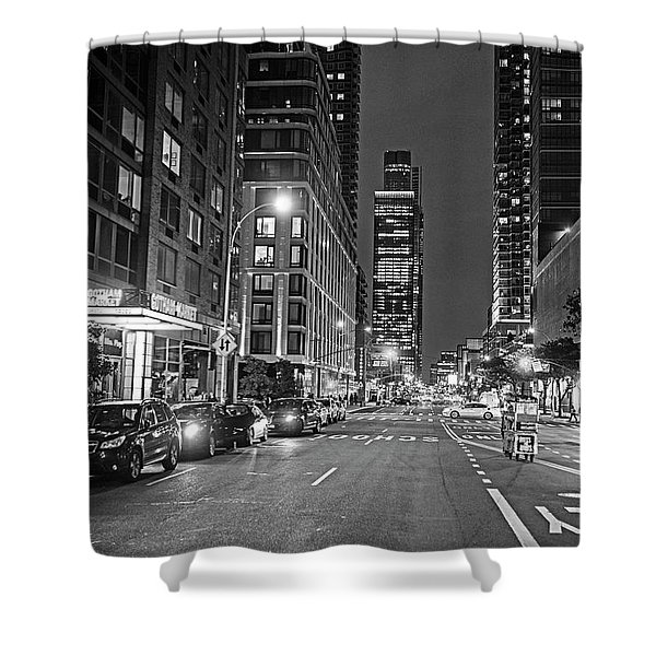 New York City Gotham West Market New York Ny Black And White Shower Curtain