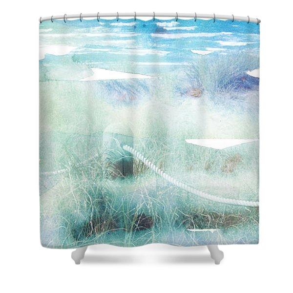 New Zealand Beachscape Shower Curtain