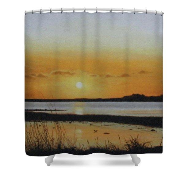 Newfoundland Sunset Shower Curtain