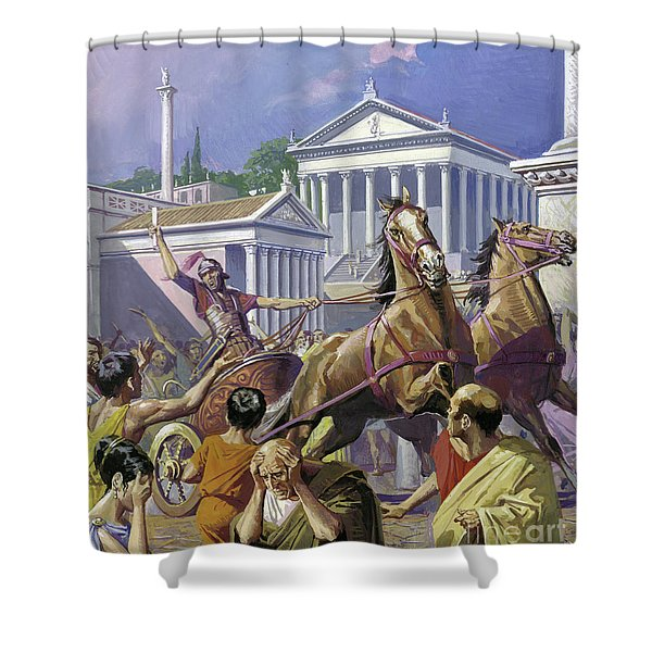 News Of The Victories Of Hannibal Shower Curtain