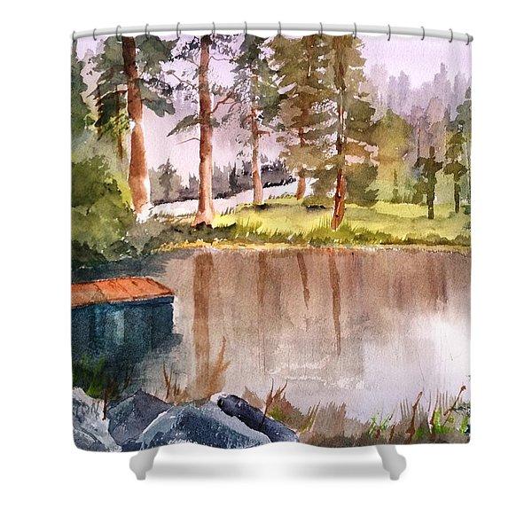 Nez Perce Lake Shower Curtain