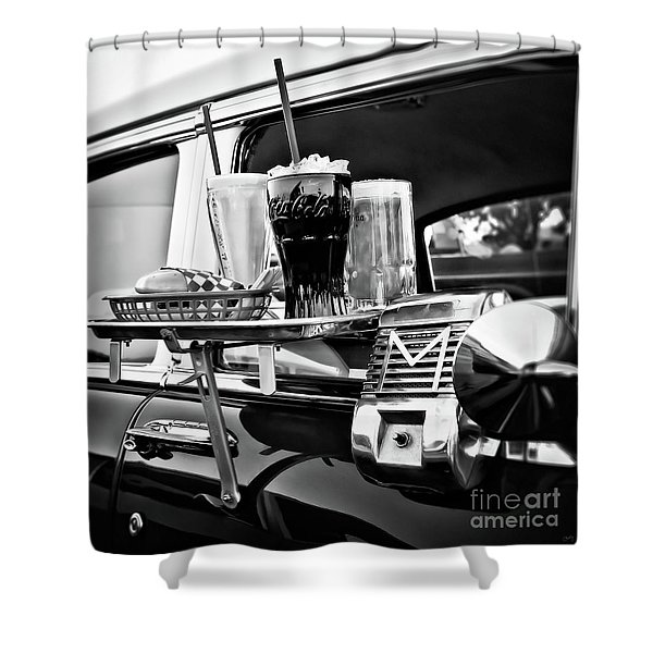 Night At The Drive-in Movies Shower Curtain