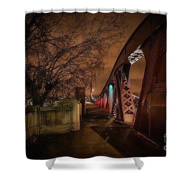 Night Bridge Shower Curtain