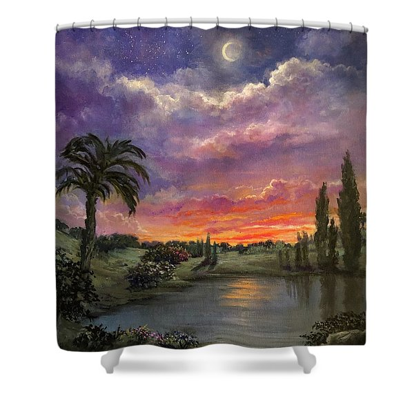 Night By Light Of Day Shower Curtain
