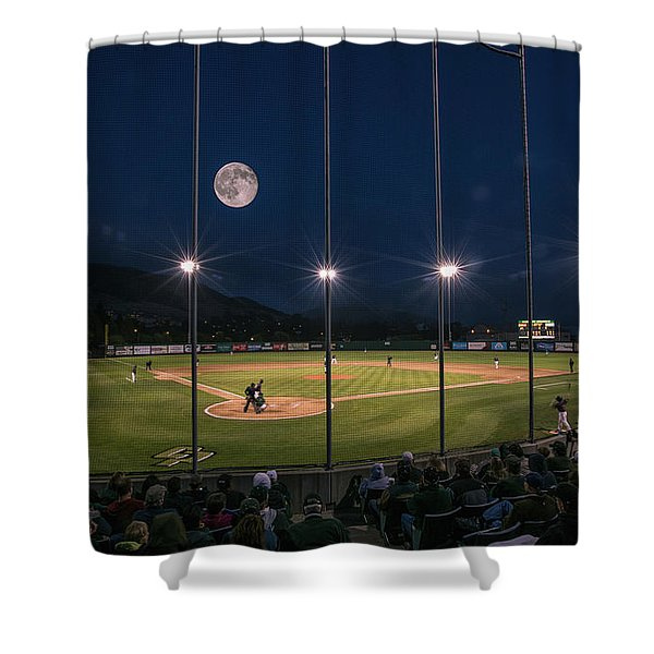 Night Game Shower Curtain