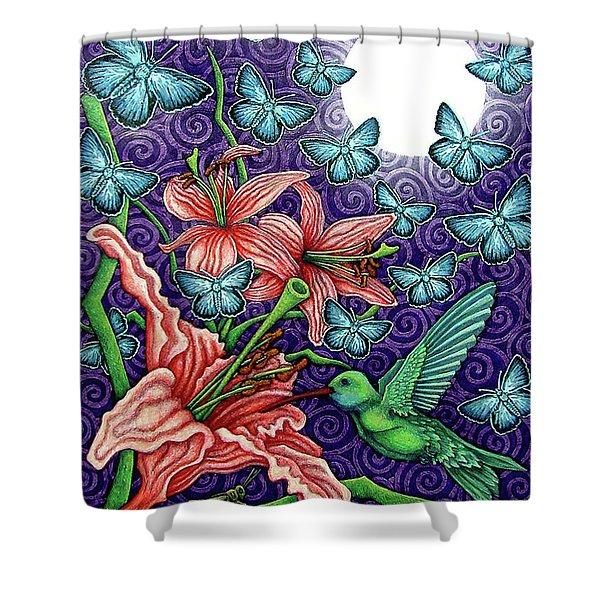 Night Garden 5 Shower Curtain