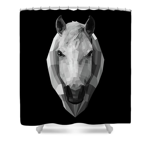 Night Horse Shower Curtain