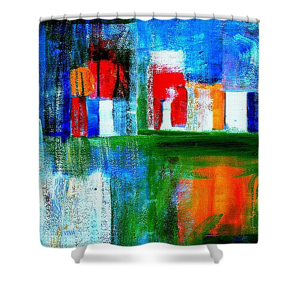 Night In The City N Y C Shower Curtain