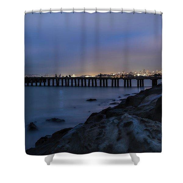 Night Pier- Shower Curtain
