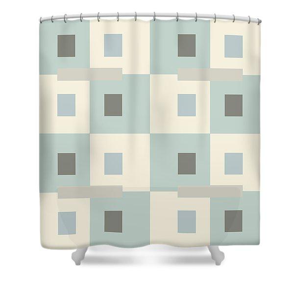 No Thinking V Shower Curtain