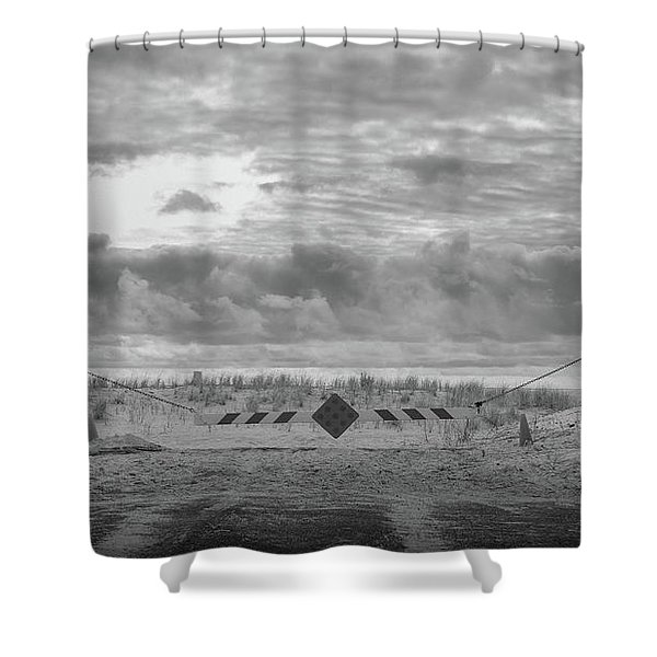 No Vehicles Shower Curtain