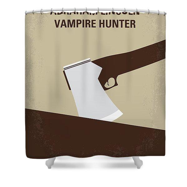 No1009 My Abraham Lincoln Vampire Hunter Minimal Movie Poster Shower Curtain