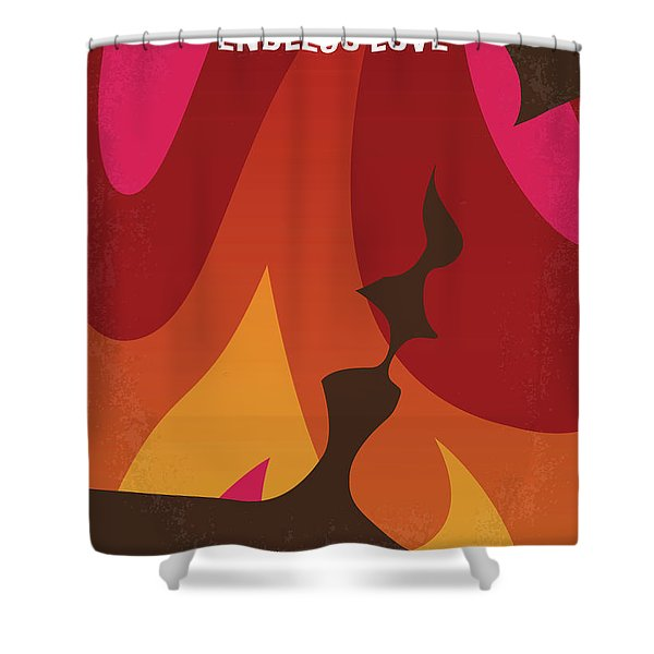 No1023 My Endless Love Minimal Movie Poster Shower Curtain