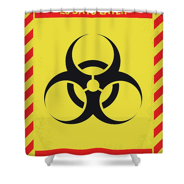 No1029 My 28 Days Later Minimal Movie Poster Shower Curtain