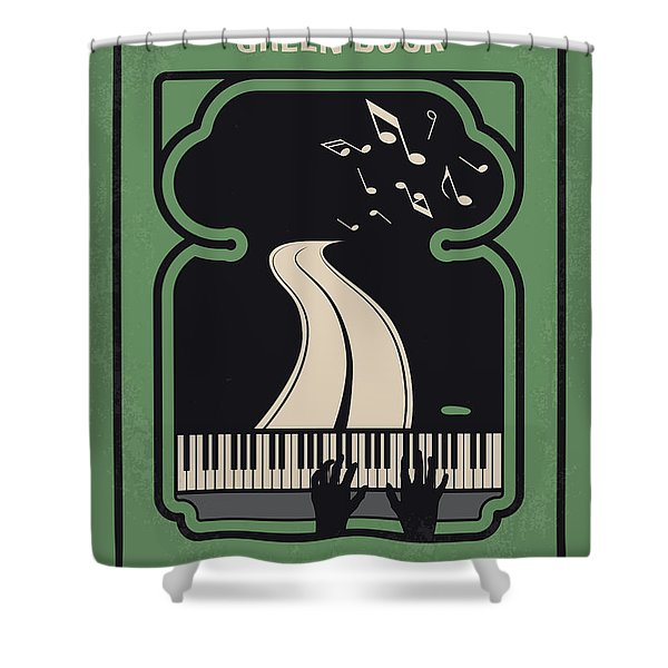 No1039 My Green Book Minimal Movie Poster Shower Curtain