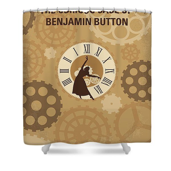 No1068 My Curious Case Of Benjamin Button Minimal Movie Poster Shower Curtain