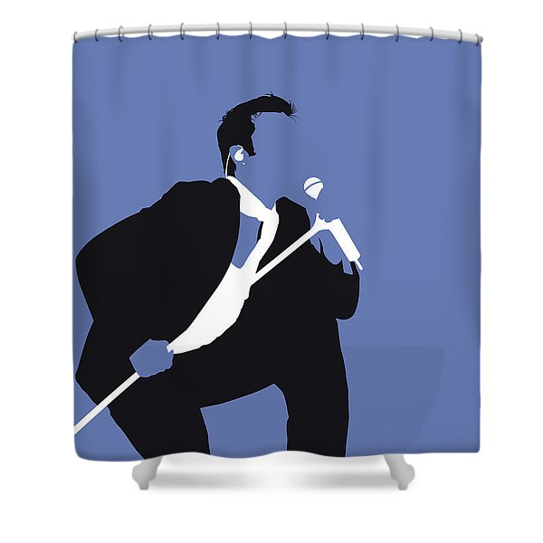 No228 My Robbie Williams Minimal Music Poster Shower Curtain