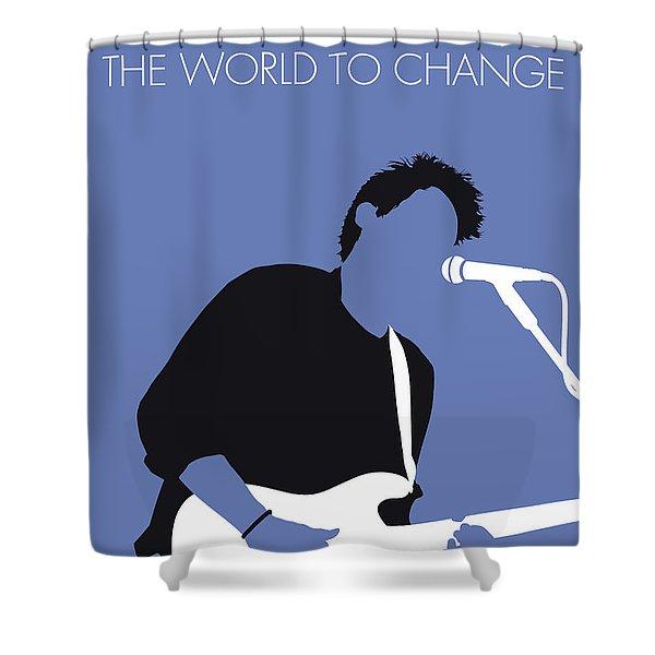 No251 My John Mayer Minimal Music Poster Shower Curtain