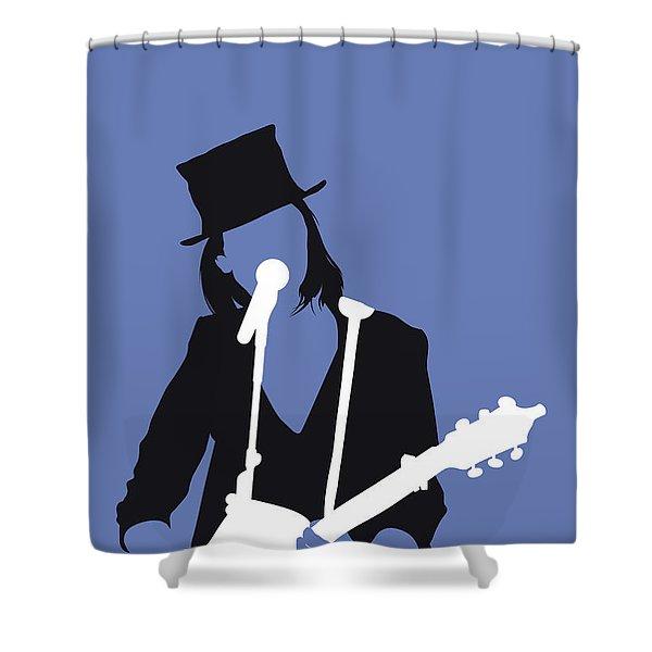 No298 My Suzanne Vega Minimal Music Poster Shower Curtain