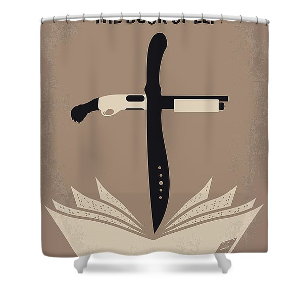 No978 My The Book Of Eli Minimal Movie Poster Shower Curtain