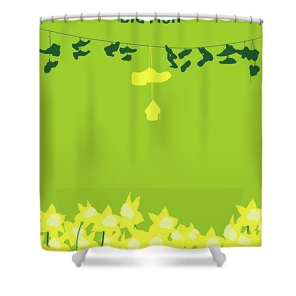 No993 My Big Fish Minimal Movie Poster Shower Curtain