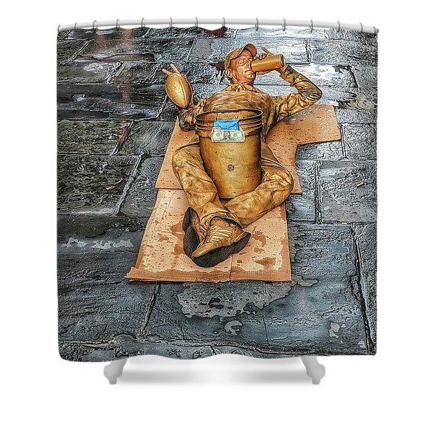 Nola Street Art Alive  Shower Curtain