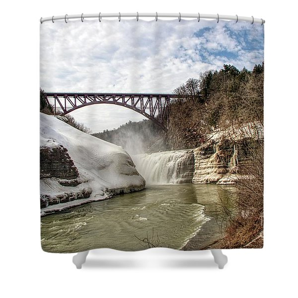 Winter At Letchworth State Park Shower Curtain