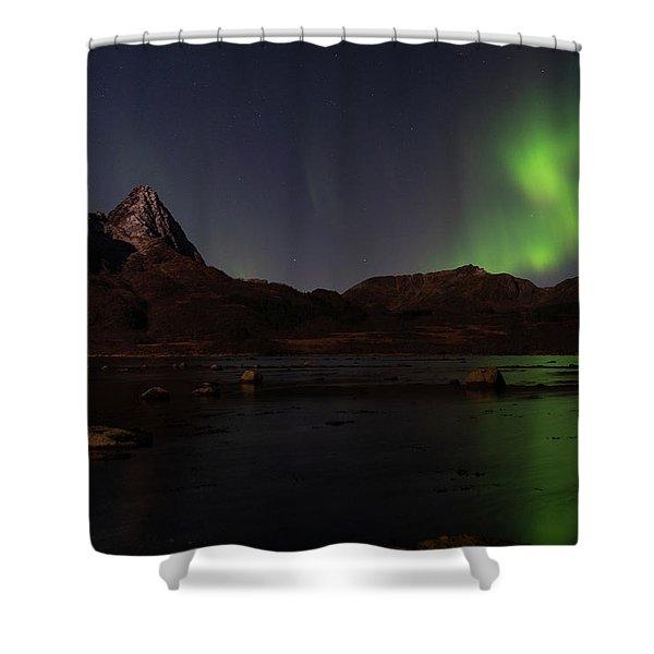 Northern Lights Aurora Borealis In Norway Shower Curtain
