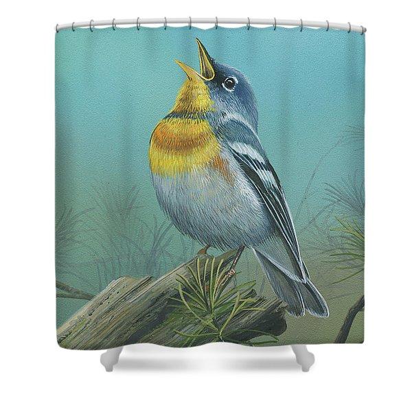 Northern Parula  Shower Curtain