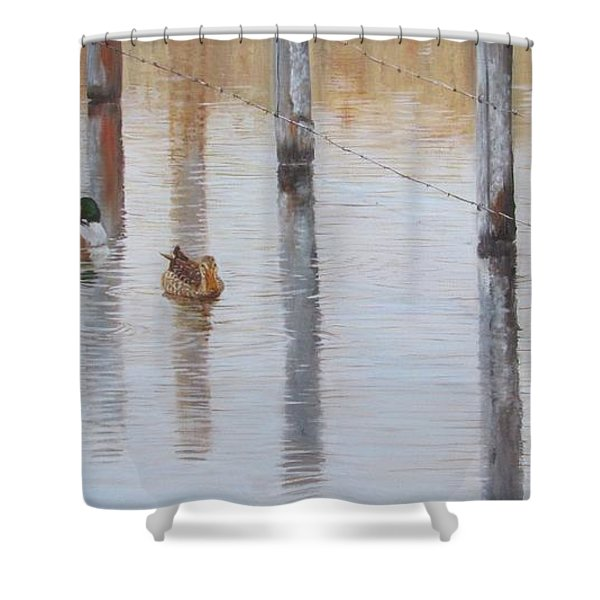 Northern Shovellers Shower Curtain