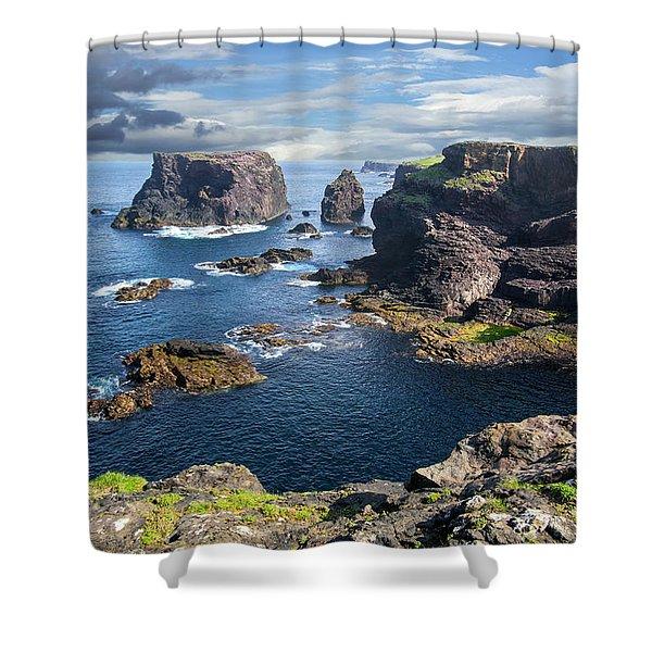 Northmavine Coast, Shetland Isles Shower Curtain