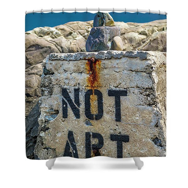 Not Art In Kennebunkport Maine Shower Curtain