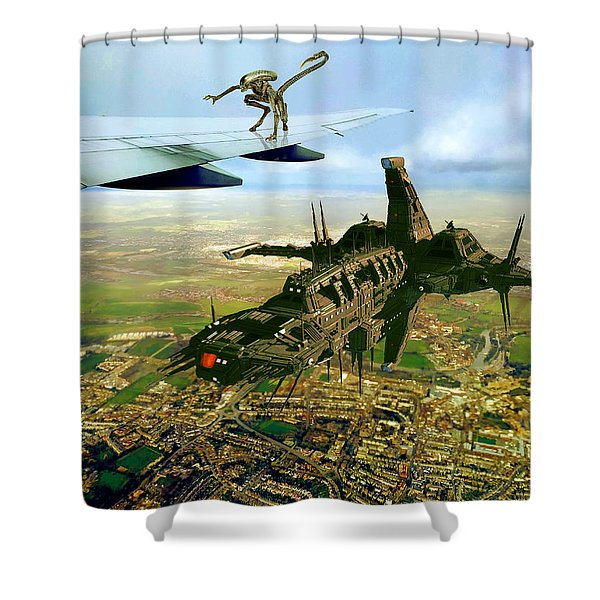 Shower Curtain featuring the digital art Not The Trip We Planned by Robert G Kernodle