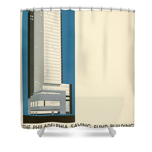Nothing More Modern The Philadelphia Savings Fund Society Building, 1932 Shower Curtain