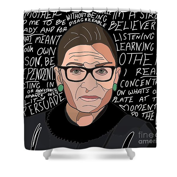 Notorious Rbg With Quotes Shower Curtain