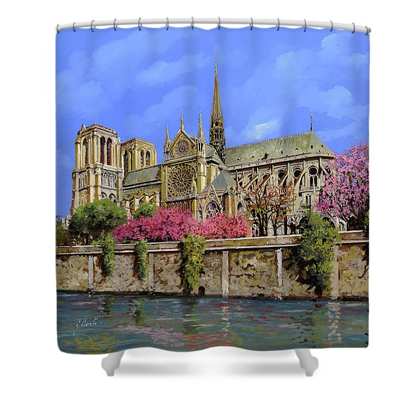 Notre Dame In Primavera Shower Curtain