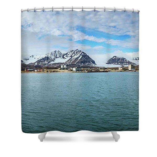 Ny Alesund Shower Curtain