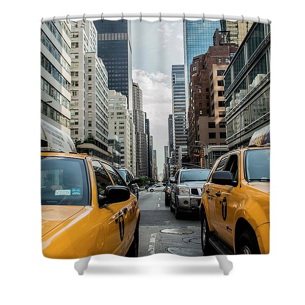 Ny Taxis Shower Curtain