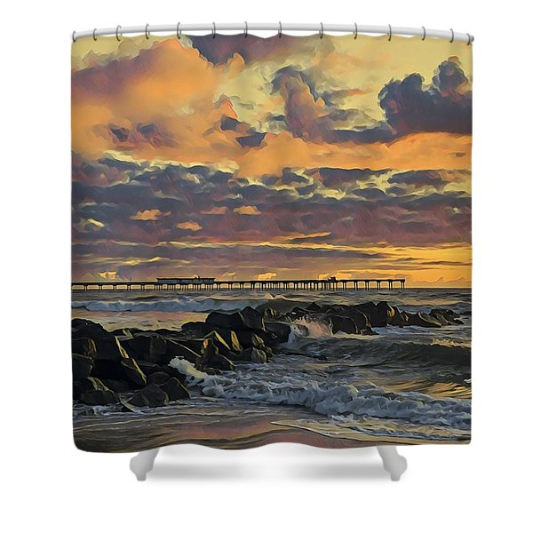 Ob Sunset No. 3 Shower Curtain