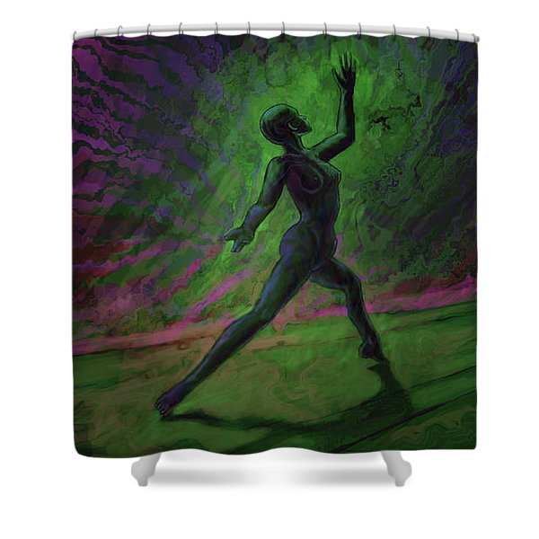 Obscured Dance Shower Curtain