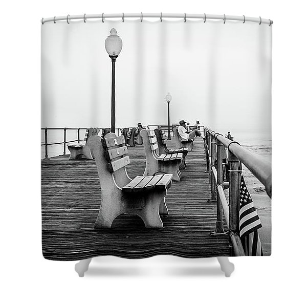 Ocean Grove Pier 2 Shower Curtain