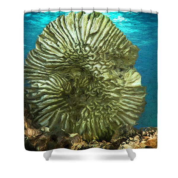 Ocean With Its Life Underground Shower Curtain