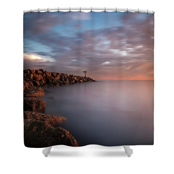 Oceanside Jetty Shower Curtain
