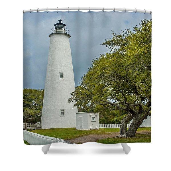 Ocracoke Lighthouse No 2 Shower Curtain
