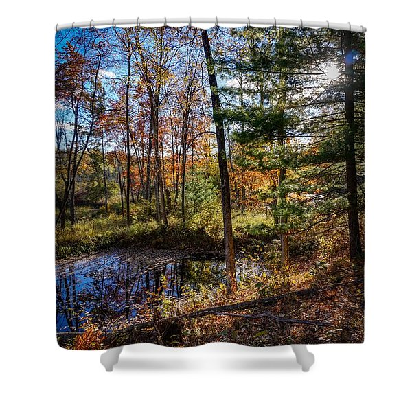 October Late Afternoon Shower Curtain